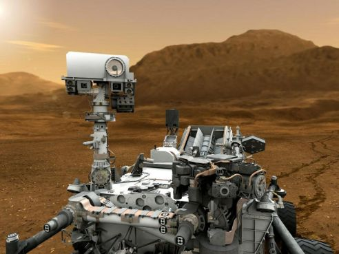 This is a rendition of the MSL on the surface of Mars