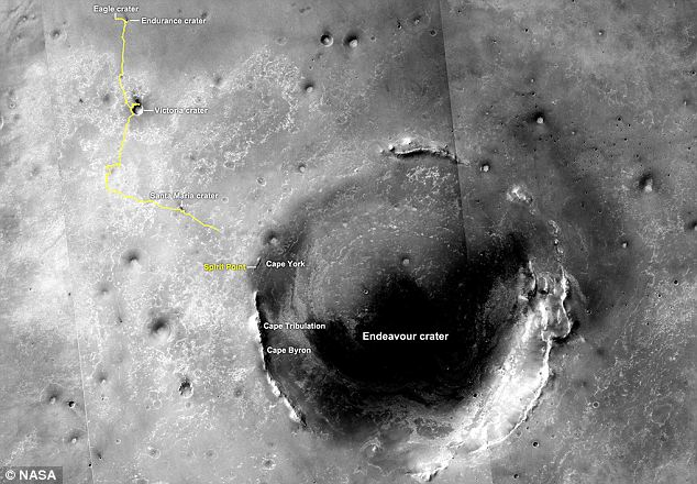 mars rover opportunity current location - photo #3