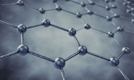 A 3D model of graphene's chicken wire structure. Photograph: nobeastsofierce/Alamy
