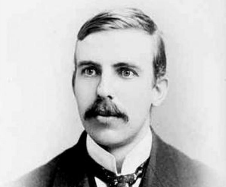 Young Ernest Rutherford, at the time he was a professor at McGill ...