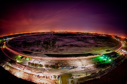 In its day, the circular Tevatron produced about 10 million proton-antiproton collisions per second - about 200 collisions per second were recorded at each detector for further analysis (Image: Fermilab)