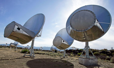 Seti uses the Allen Telescope Array to monitor thousands of stars for radio signals that have the imprint of alien intelligence. Photograph: Ben Margot/AP