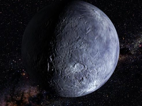 Artist's conception of a small icy object beyond Pluto (file picture).