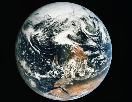 The 'blue marble' photo of the Earth taken from Apollo 17. Photograph: Harrison Schmitt/Nasa