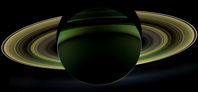 NASA's Cassini spacecraft has delivered a glorious view of Saturn, taken while the spacecraft was in Saturn's shadow. Image credit: NASA/JPL-Caltech/Space Science Institute