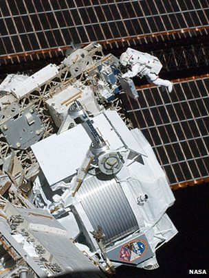 The AMS was taken up to the ISS in 2011