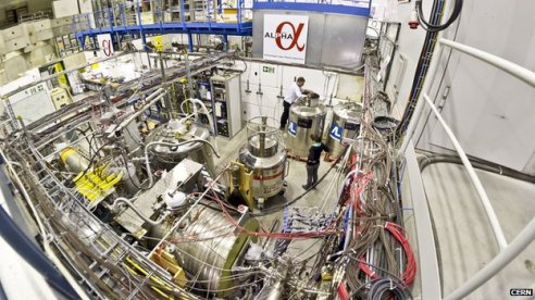 The Alpha experiment's antimatter chamber uses magnetic fields to sequester antihydrogen atoms