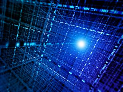 Conceptual illustration of photon-based qubits. (Courtesy: iStockphoto/Henrik Jonsson)