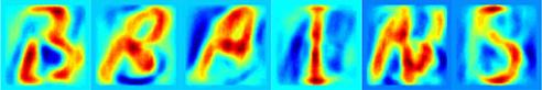 By analysing MRI images of the brain with an elegant mathematical model, it is possible to reconstruct thoughts more accurately than ever before. In this way, researchers from Radboud University Nijmegen have succeeded in determining which letter a test subject was looking at. (Credit: Image courtesy of Radboud University Nijmegen)