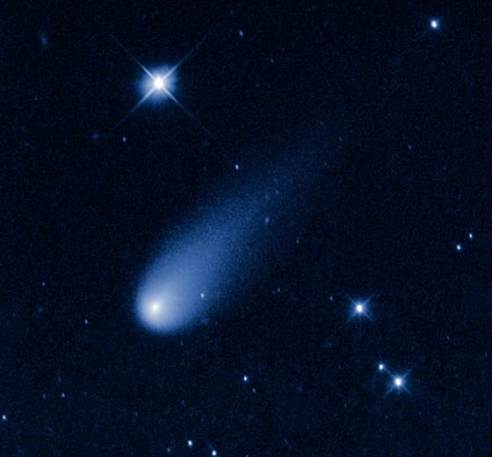The Hubble Space Telescope captured this view of Comet ISON, C/2012 S1 (ISON), on May 8 as it streaked between the orbits of Jupiter and Mars at a speed of about 48,000 mph. (NASA, ESA, and the Hubble Heritage Team (STScI / AURA)