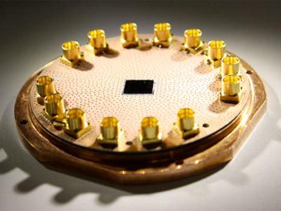 Superconducting quantum circuit used to relay quantum information. Credit: Y. Liu, ETH Zurich