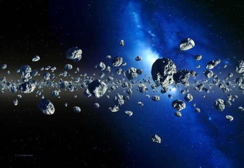 The Kuiper belt counts at least 70,000 objects with diameters larger than 100 kilometres, orbiting the Sun at least 30 times farther than does the Earth. ARTIST'S IMPRESSION DETLEV VAN RAVENSWAAY/SCIENCE PHOTO LIBRARY