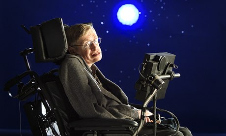 Professor Stephen Hawking: 'Throughout my life, I have had a gambling problem.' Photograph: Murdo MacLeod for the Guardian