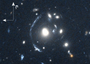 Lensed image of galaxy S0901. Credit: NASA/STScI; S. Allam and team; and the Master Lens Database (masterlens.org), L. A. Moustakas, K. Stewart, et al. (2014)