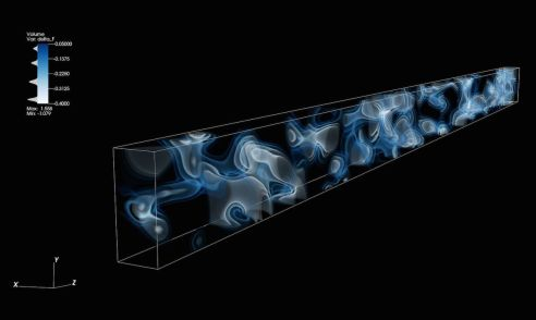 3D map of the cosmic web at a distance of 10.8 billion years from Earth, generated from imprints of hydrogen gas observed in the spectrum of 24 background galaxies behind the volume. This is the first time that large-scale structures in such a distant part of the Universe have been directly mapped. Credit: Casey Stark (UC Berkeley) and Khee-Gan Lee (MPIA). - See more at: http://newscenter.lbl.gov/2014/10/16/a-3d-map-of-the-adolescent-universe/#sthash.FC2wxF0N.dpuf