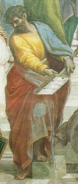 Parmenides. Detail from The School of Athens by Raphael